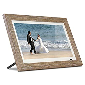 Image of Aluratek 13' Distressed Wood Digital Photo Frame with 8GB Built-in Memory, Includes 2 Interchangeable Frames,1920 x 1080 (ADMPFD13F) Digital Picture Frames