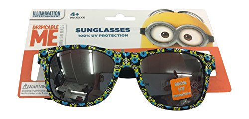 [Despicable me Boys Print Childrens Kids Boys Blue Shine Sunglasses - 100% UVA & UVB Protection] (Despicable Me Glasses)