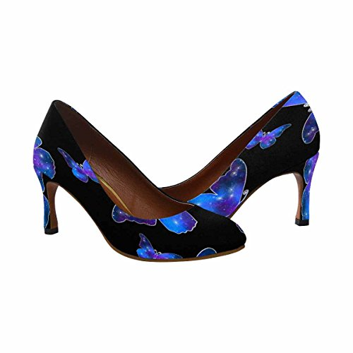 Vestito Da Donna Di Alta Moda Stile Classico Tacco Alto Pompa Silhouette Farfalla Come Modello Galassia Con Lucentezza, Simbolo Di Stile Semplice