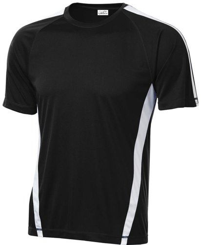 Joe's USA Men's Athletic All Sport Training T-Shirt ,Black/ White ,XX-Large