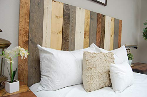 Barn Walls Cabecero (estilo perchero, hecho a mano. Se monta ...