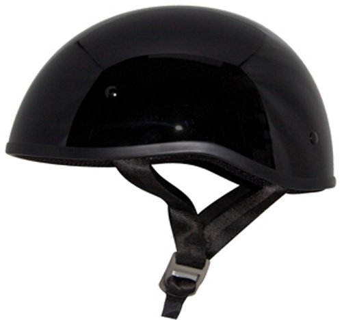 - ZOX Retro Old School Open Face Helmet (Glossy Black, Medium)