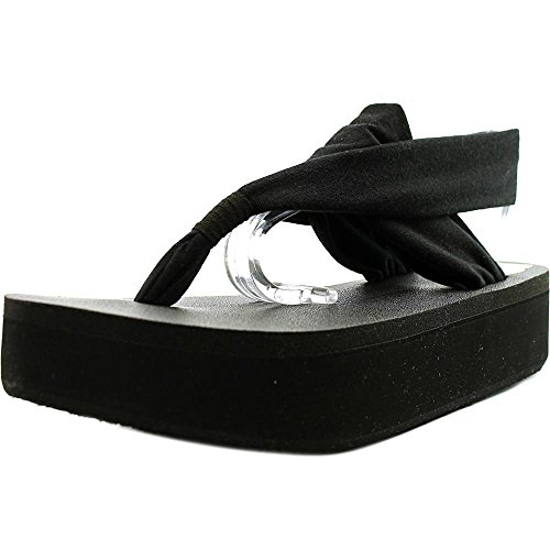 763b4cbe788742 80%OFF Sanuk Yoga Sling 2 Platform Women Open Toe Canvas Black Thong Sandal