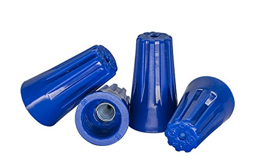Blue Wire Connectors Bulk Bag of 1,000 - UL Listed Twist-On P2 Type Easy Screw On Cap
