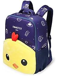 Kindergarten Toddlers Cute 3D Cartoon Chick Neoprene Lightweight Backpack School Bags