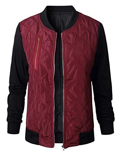 Giacche Collo Cappotto Invernali Giacca Fashion Casual Rot Calda Trapuntata Lunga Giovane Eleganti Pilot Autunno Coreana Bomber Outdoor Manica Donna Zwxqt0r7IZ