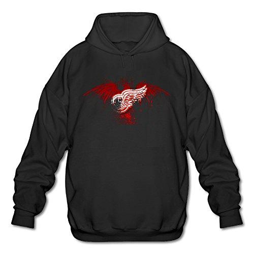 Firewei Detroit Red Wings Men's Hooded Sweatshirt Black ()