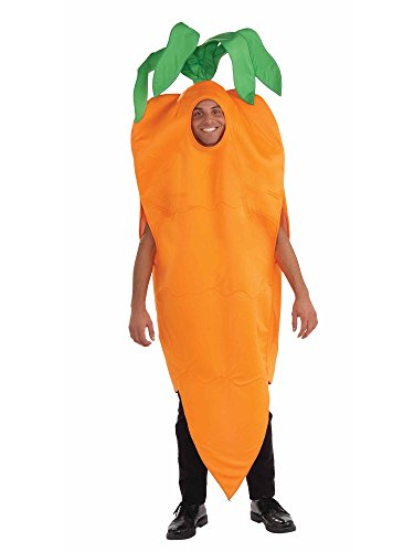 Unisex - Adult Carrot Costume, Orange, One Size -
