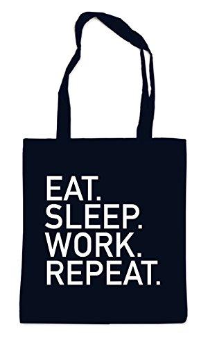 Eat Sleep Work Repeat Bag Black