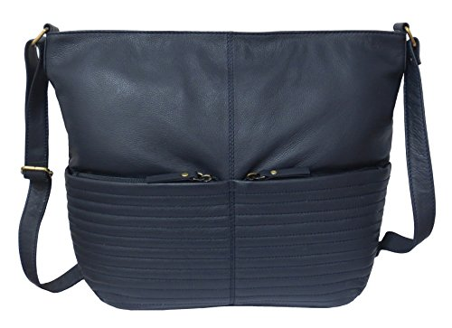 Shoulder Rowallan Soft Women's Rowallan Leather Navy Large Blue Bag Women's YqR5Iw5