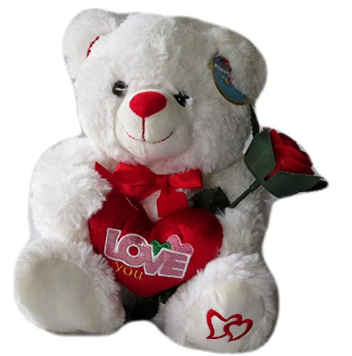 DBK Gifts Love You Stuffed Teddy Bear Holding I Love You Heart and -