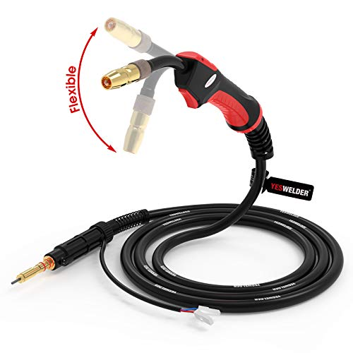 YESWELDER Flex Neck MIG Welding Gun Torch Stinger 100A 10ft, Replacement Hobart H-10/H100S2 MIG Gun for Hobart Handler 135/140/175/180/187