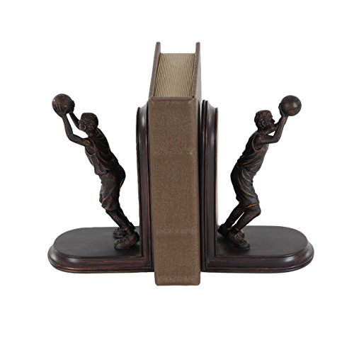 (Deco 79 79028 Pair of Resin Basketball Player Bookends Brown)