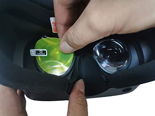 3 Packs Lens Film for Oculus Rift S Headset Lens Screen Protector for Oculus Rift S Curved Lens, Flat But Soft-Clear (for Oculus Rift S)
