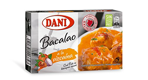 Cod fish in biscayan sauce canned 4oz tin pack bacalao for Fish sauce gluten free