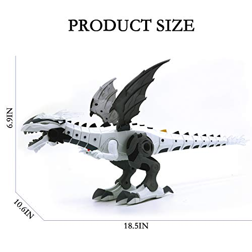 Electronic Walking Spray Dinosaur Toys for Kids Boys Girls Christmas Party Gifts