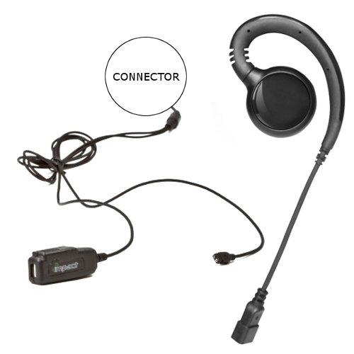 Impact SP3-G2W-EH5 Gold Series 2-Wire Surveillance Earpiece Kit for Sepura Bottom Mount SRP2000 3000 3500 - Sp3 Series