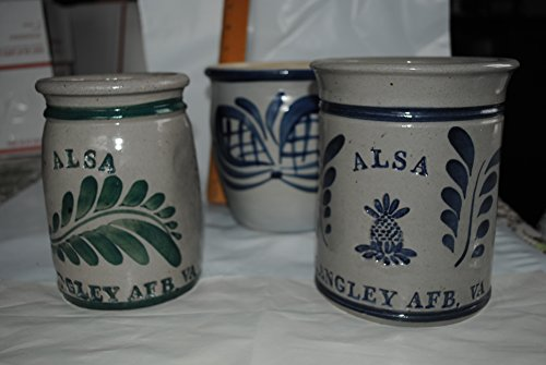 Salt Glaze Crock - Daisy Vintage Salt Glaze Crocks (3 Collectibles) Langley