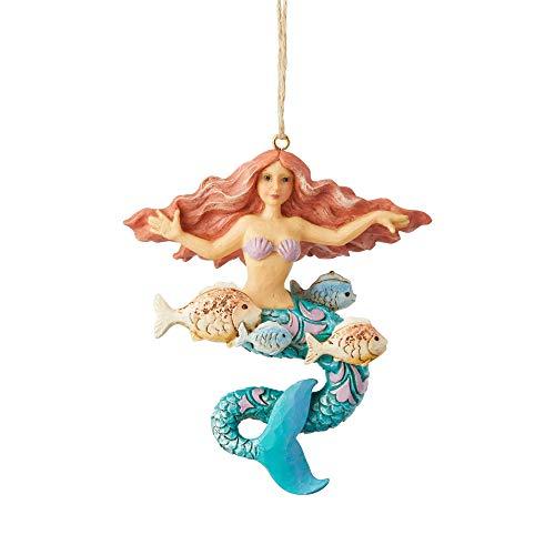 - Enesco Jim Shore Heartwood Creek Coastal Mermaid Ornament, 3.94