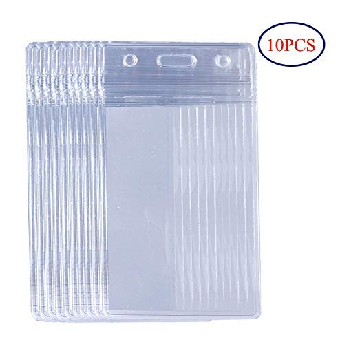8122a08406d1 EverNary Waterproof Clear Plastic Badge Holder,Vertical Style for ID ...