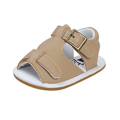 BOBORA Bebe Ninos Ninas Zapatos De Verano Suelas Blandas Antideslizante PU Sandalias oro