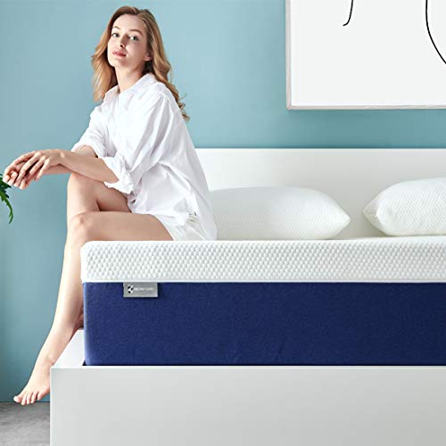 Queen Mattress, Ssecretland 8 Inch Premium Gel Multi Layered Memory Foam Bed Mattress in a Box with CertiPUR-US Certified Foam for Pressure Relief, Queen Size, Breathable, Easy Set-Up