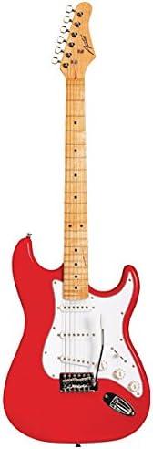 Red Austin Guitars Classic Double Cutaway