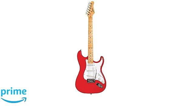 Austin Guitars AST100RD - Guitarra eléctrica, color rojo: Amazon.es: Instrumentos musicales