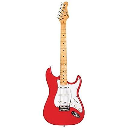 Austin Guitars AST100RD - Guitarra eléctrica, color rojo