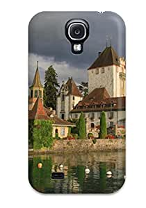 For MDLzyaf2000NIBnp An Old House On The Waterfront And Boats Protective Case Cover Skin/galaxy S4 Case Cover