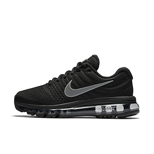 f907b0a1484a Nike Womens Air Max 2017 Running Shoes Black White Anthracite 849560-001  Size