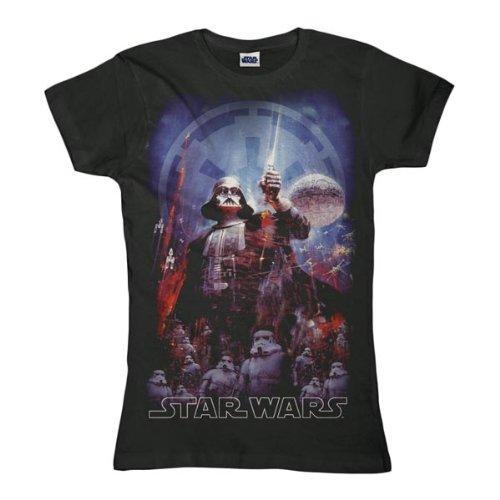 STAR WARS Retro Movie Damen T-Shirt DARTH VADER PORTRAIT Sports Grey Gr. S
