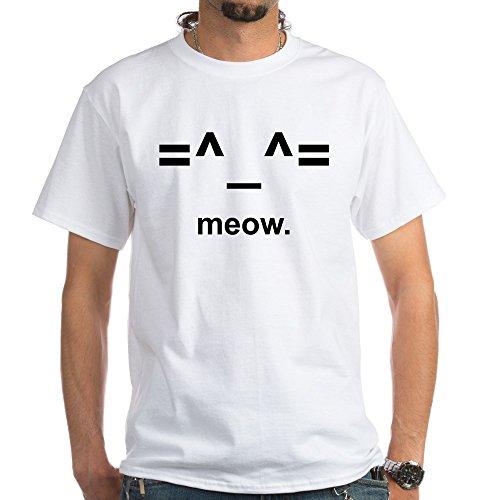 CafePress Anime Kitty Cat Emoticon T-Shirt (White) -