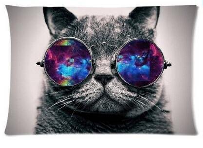 Galaxy gato Hipster (3D) plaśtico tema gato gafas de sol de ...
