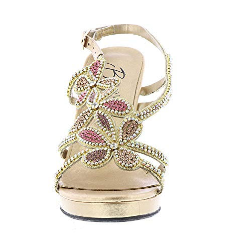 À Talon Femmes Sandales Beacon Gold 1WvwqnRXw7