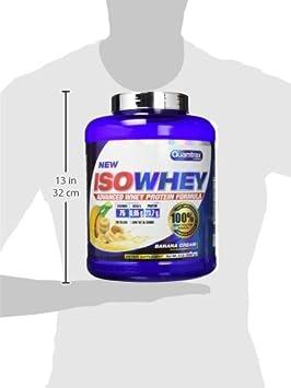 Quamtrax Proteina Iso whey sabor banana -2270 gr 75 servicios