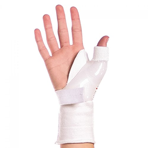 BraceAbility Skier's Thumb Brace | Treats UCL Ligament Injuries and Tears, Tendonitis, Immobilizes your Thumb Joint after Sprains, Fractures or Surgery (S - Right Hand) by BraceAbility