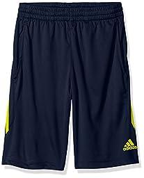 adidas Boys\' Big Boys\' Core Short, Collegiate Navy/Shock Slime, Small/8