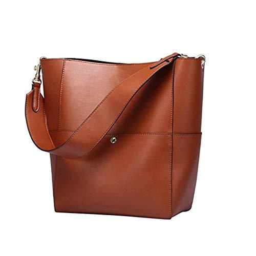 Qux5qd Mujer Bag Kugin Talla Única De Para Handle Tela Bolso Marrón aavHqU