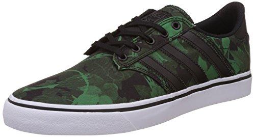 Skate Shoe Men adidas Skateboarding Seeley Premiere Skate Shoes Green - Green, Black