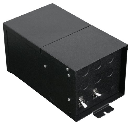 Fusion Monorail 600W Remote Magnetic Transformer with Black Metal Housing - Multiple Voltage Options Input Volt/Input Current/Output Wattage/Type: 1x120 VAC/5A/2x300W/12V by LBL Lighting