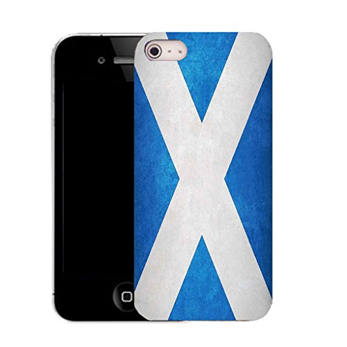 Mobile Case Mate IPhone 5S clip on Silicone Coque couverture case cover Pare-chocs + STYLET - scottish flag pattern (SILICON)