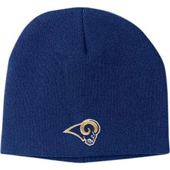 St Louis Rams Basic Logo Uncuffed Knit Cap by Reebok