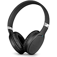 Aduro On-the-Ear Wireless Bluetooth Headphones - Extra Long Battery Life [ANX EverSound] Wind Noise and Echo Reduction, Built-in Mic, 40mm Drivers, Wireless or Wired Mode (Model AX10)