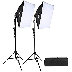 CRAPHY Softbox Continuous Lighting Kit