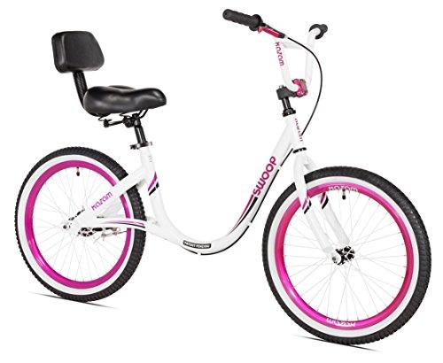 "KaZAM Swoop Balance Bike, 20"", White/Pink"