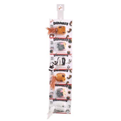 Zanies Skedaddles Clip Strip Cat Toy, 3-Inch, 6-Pack, My Pet Supplies