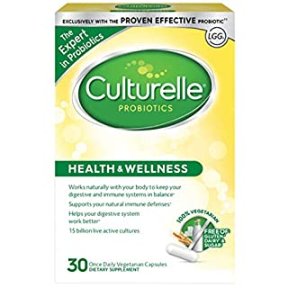 Culturelle Health & Wellness Daily Probiotic Dietary Supplement | Restores Natural Balance of in Digestive Tract* | With the Proven Effective Probiotic† | 30 Vegetarian Capsules