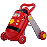 Meen Baby Walker, with Music Multi-Function with Weighting Water Tank Baby Walker (Color : Black Red)