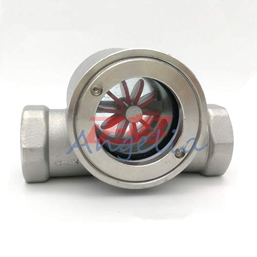 Maslin 3/8'',1/2'',3/4'',1'' BSP Stainless Steel 304 Sight Water Flow Indicator with Plastic Impeller - (Thread Specification: 1'')